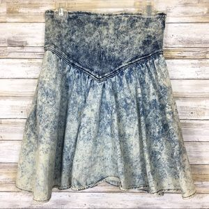 Vintage 80's Acid Wash High Waisted Skirt